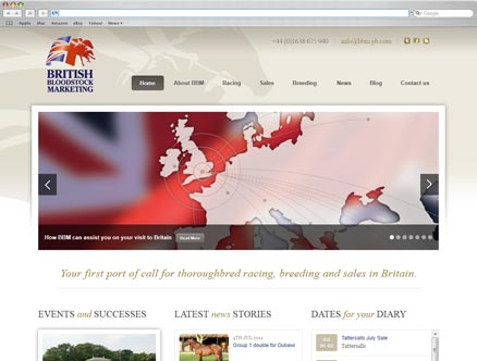 British Bloodstock Marketing design and developed by Fantasmagorical