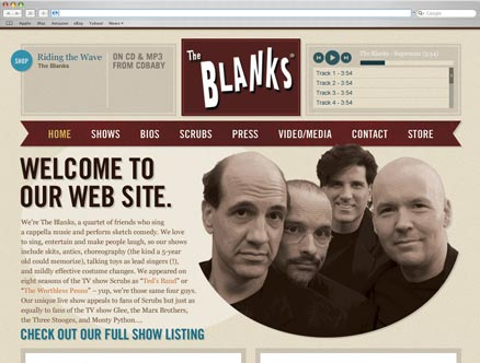 The Blanks design and developed by Fantasmagorical