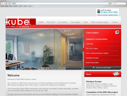 Kube Office Interiors design and developed by Fantasmagorical