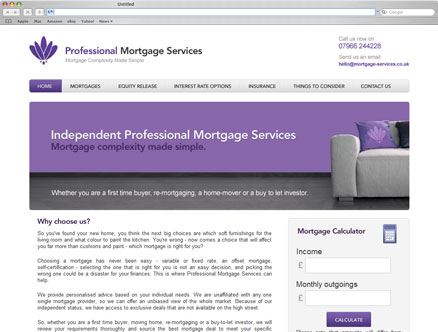 Mortgage Services design and developed by Fantasmagorical